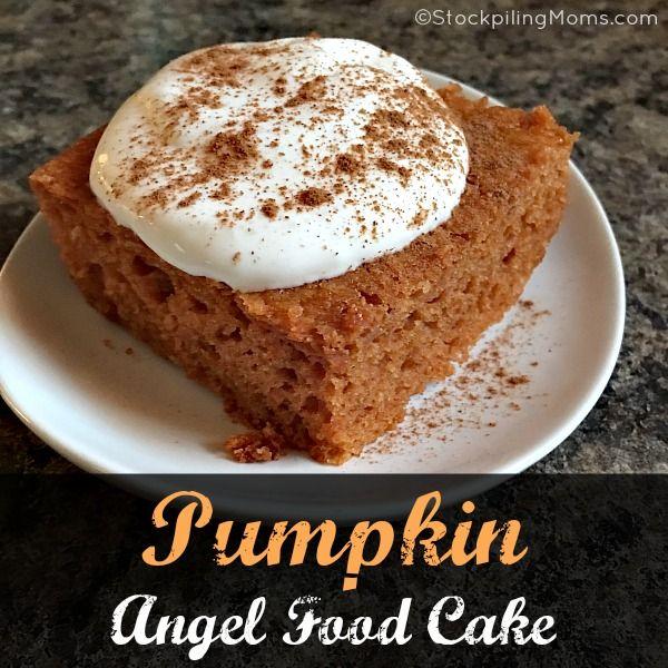 Weight Watchers Pumpkin Angel Food Cake Recipe