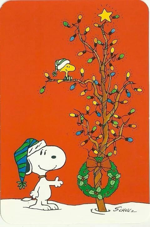 """Merry Christmas!   (no words - """"Christmas with Woodstock & Snoopy"""")   --Peanuts Gang/Snoopy & Woodstock"""