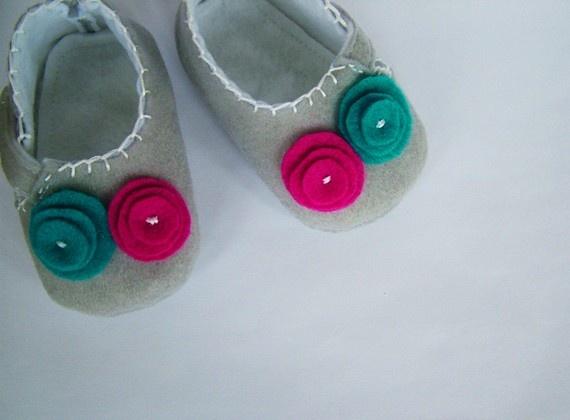 Grey felt shoes