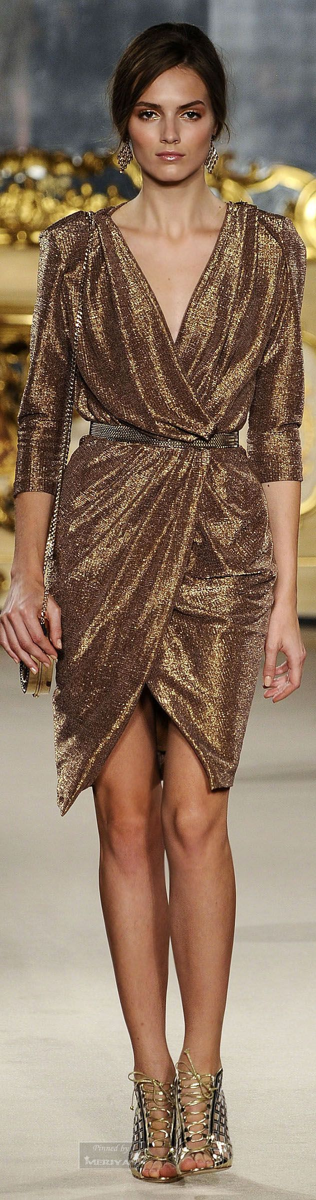 surplice dress ~ Couture Spring/Summer 2015 ~ *Elisabetta Franchi.Spring-summer 2015.