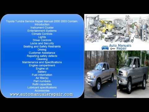 Toyota Tundra Services Repair Manual 2000 2003