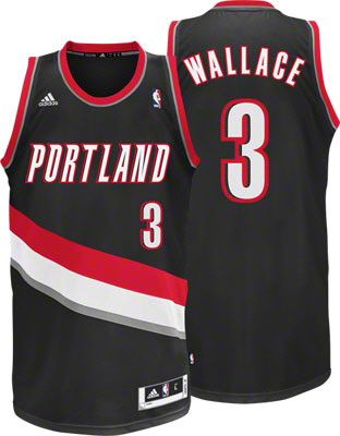 Portland Trail Blazers Gerald Wallace 3 Black Authentic Jersey Sale