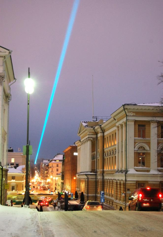 The Light installation over at the sky of Helsinki,,,