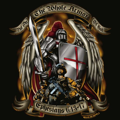 full armor of god tattoo | Armor of God Black T-shirt