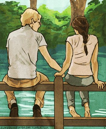 """Peeta and I grow back together."" 