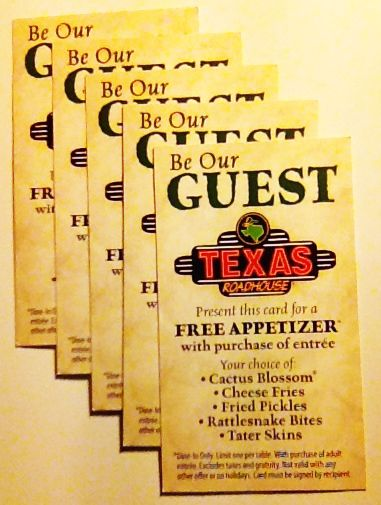 Texas Roadhouse Coupons!  Not a lot left!  http://www.pinterest.com/TakeCouponss/texas-roadhouse-coupons/