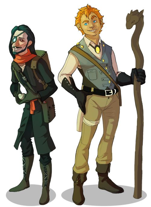 Western Comic Character Designs by Kayla Snyder