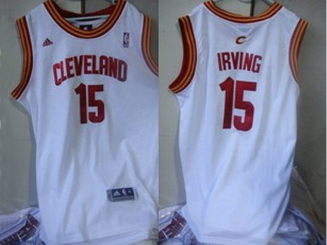 Cleveland Cavaliers 15 Irving White Swingman Jerseys $18.99