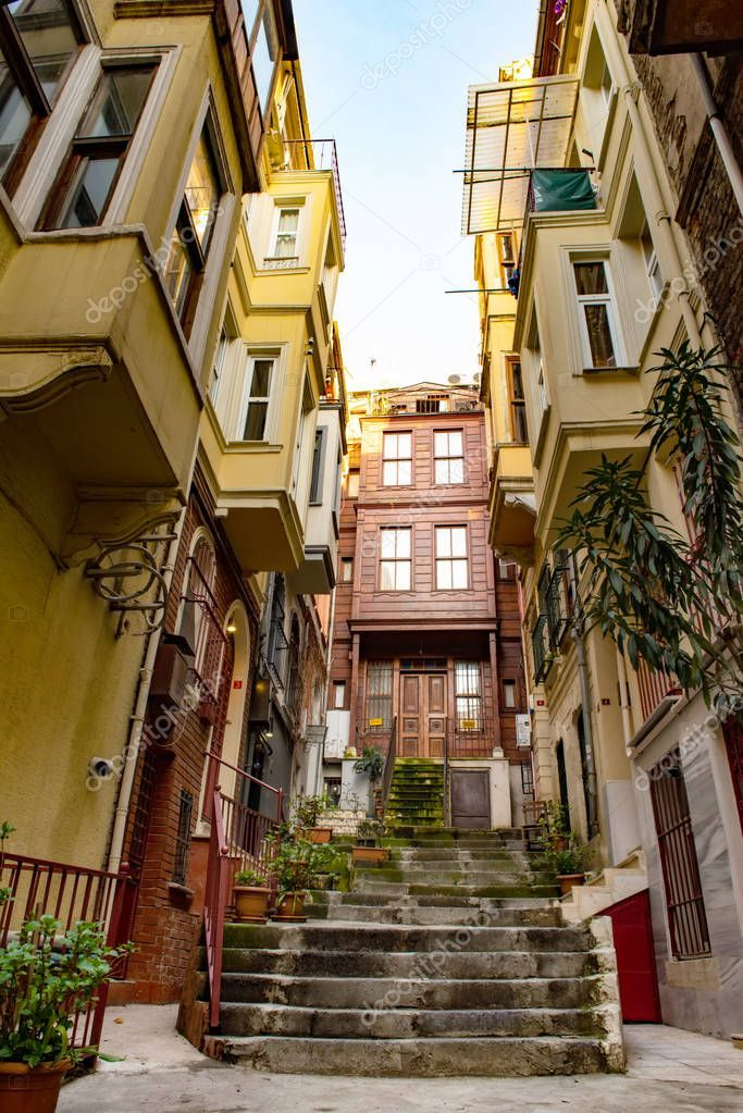 Poor district Fatih in Istanbul, Turkey Stock Photo ,
