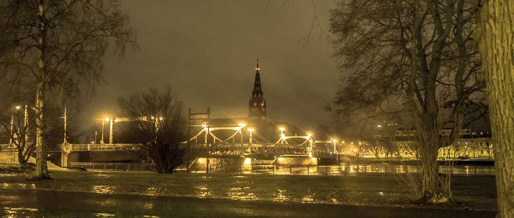 Bridge over golden river