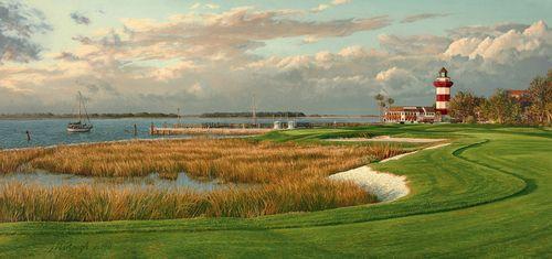 """Harbour Town Golf Course Linda Hartough 10""""""""x20"""""""" canvas"""