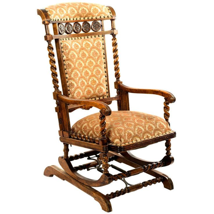 ... Carved Walnut Rocking Chair  Rocking chairs, Chairs and Furniture