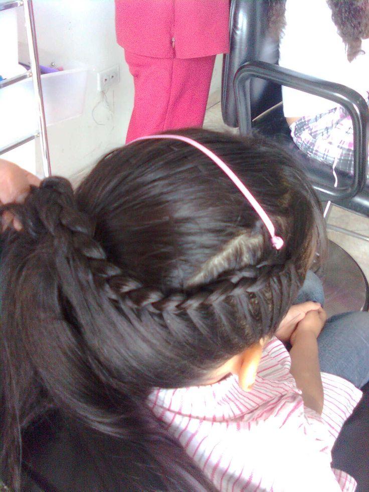 Peinados para ninas con arte creando un espacio - Peinados fiesta faciles ...
