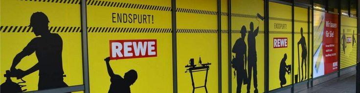 Schaufensterbeschriftung Mainz - REWE Umbaumaßnahmen