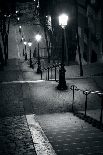 The famous steps of Montmatre Paris France.,..I've walked up those steps :) I'd like to do it again.