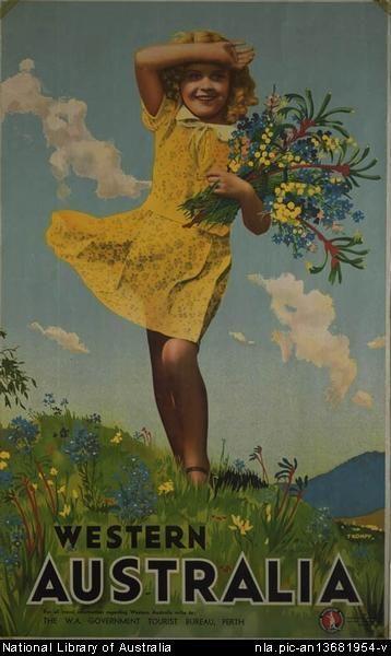 1940s WA Government Tourist Bureau poster by Percy Trompf (1902-196 via NLA