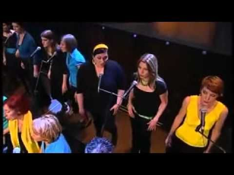 Amazing choir (Perpetuum Jazzile) uses their hands to simulate storm