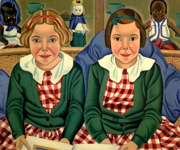 Fay and Jane Birkinshaw    Rita Angus - 1938