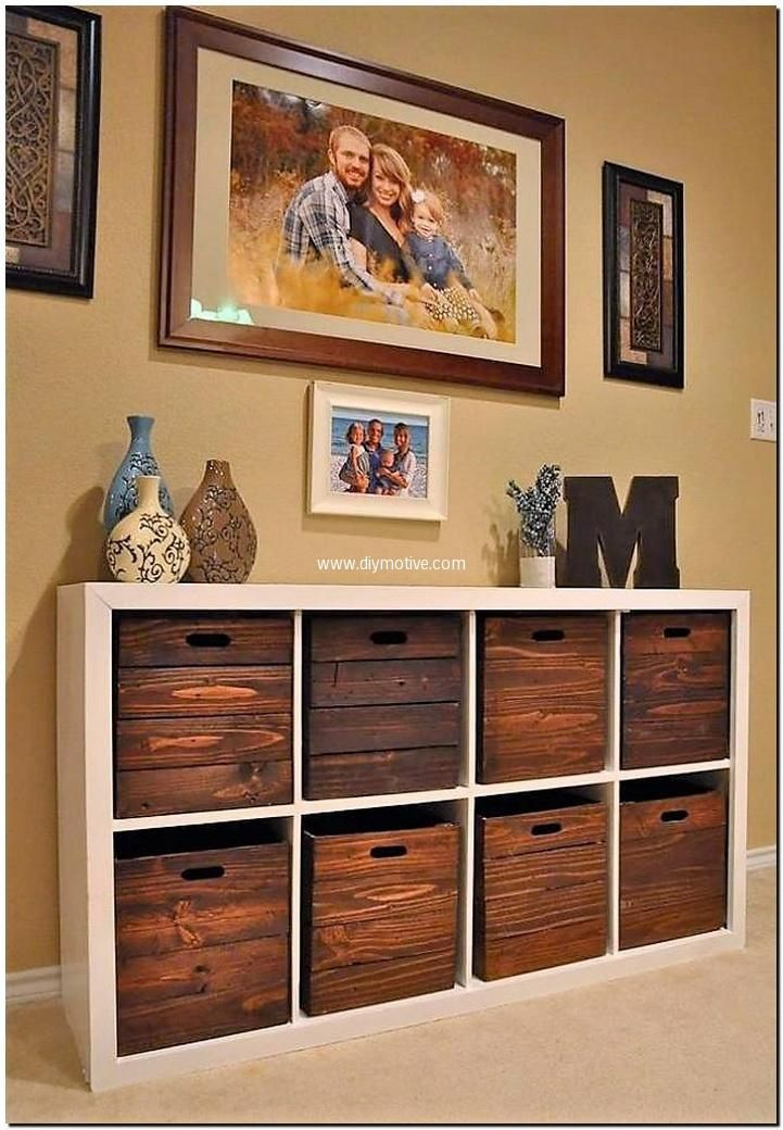 fruit crates entryway table with drawers