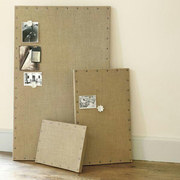 Burlap canvas bulletin boards
