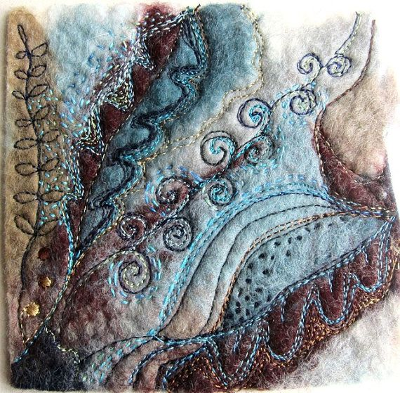 Little gem textile art