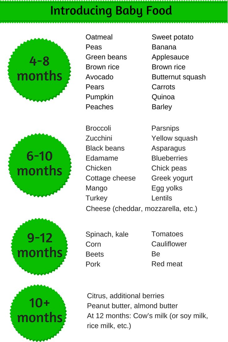 Introducing baby food: Sample schedule | Family Food on the Table