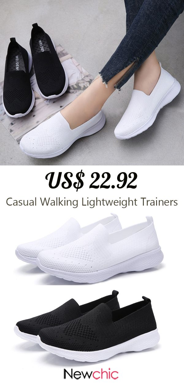 b86b5b3b2a Women Casual Walking Lightweight Breathable Mesh Hollow Slip On ...