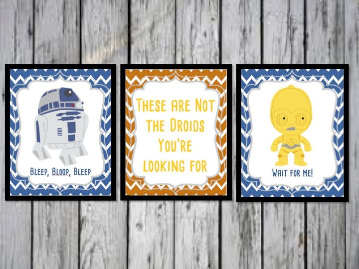 R2D2 and C3PO Star Wars Droids Poster, Droids Print, Star Wars Print, These are not the droids you're looking for, Star Wars Gift, Star Wars by ANewDae on Etsy