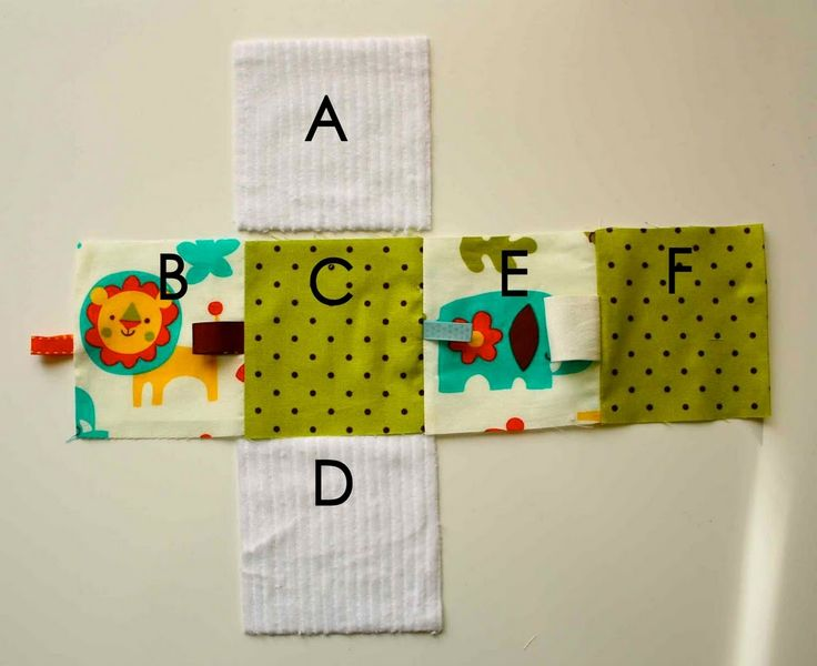 Easy to Sew Baby Blocks. I made my squares 2 1/2 by 2 1/2 so they are sized for baby hands. Many of them use 5x5 squares, which come up huge.