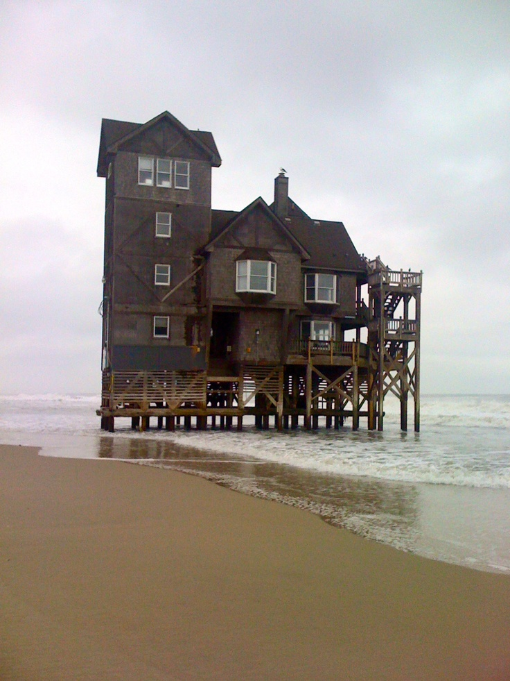 """""""Nights in Rodanthe"""" house, NC (""""Serendipity"""", now a vacation rental...a wintry week, just writing, walking, falling asleep to the sound of the waves)"""