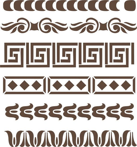 Add extra fancy designs to furniture legs, table tops, cabinetry and small craft projects with this easy to use stencil set.    6 different