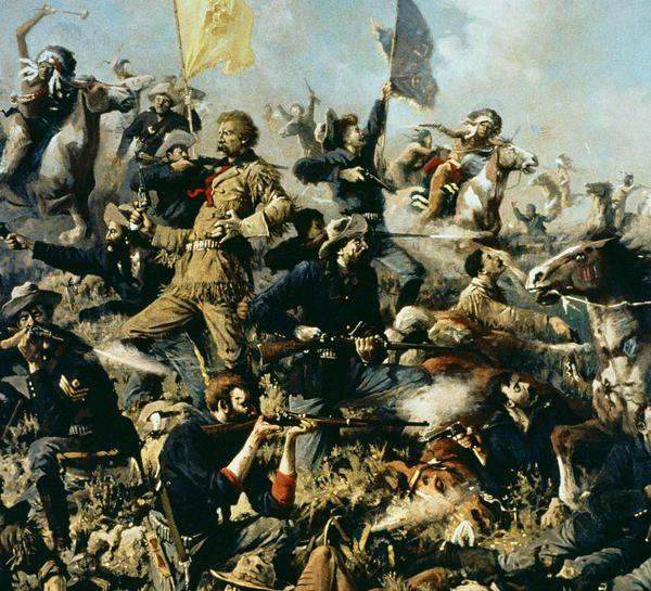 Battle of Little Bighorn, 25th June 1876 (oil on canvas) by Edgar Samuel Paxson