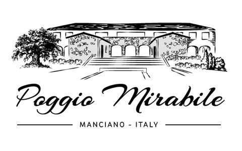 Logo Agriturismo Poggio Mirabile, Manciano Italy.