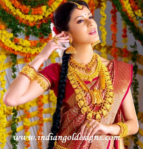 Indian Bridal Jewellery Ruby Studded Antique Bridal Necklace 22k Gold