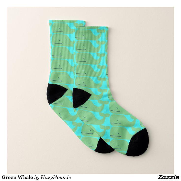 Green Whale Socks