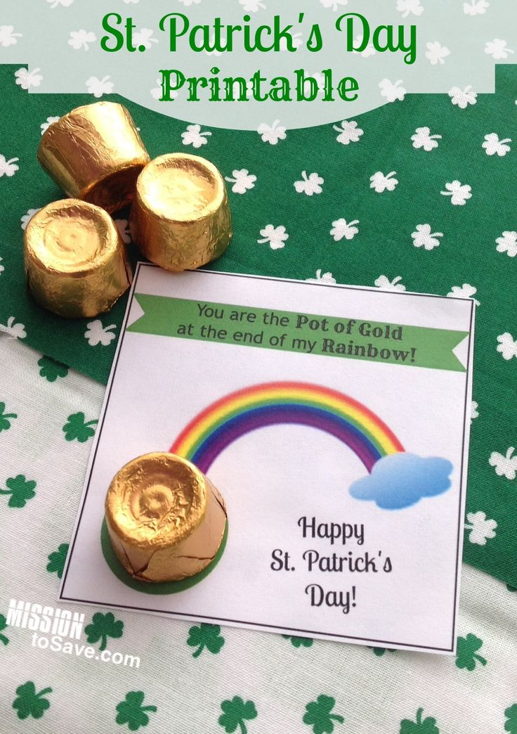 """Ok, so I know that Valentine's Day just ended (don't forget to look for those clearance steals!). But I am already thinking ahead to the next """"holiday"""". I made these adorable little printable tags this weekend and just couldn't wait to share them with you! You are the Pot of Gold at the end of my Rainbow St. Patrick's Day Printable Tags These are a super easy little treat. Print the tags (6 per page) and then tape on a  {Read More}"""