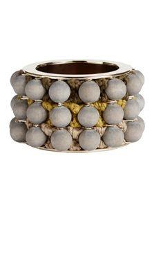 """Bracciale laccato in oro con """"borchie"""" in ceramica"""