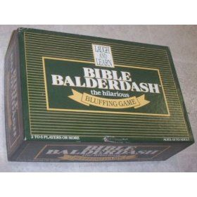 bible board games | Bible Balderdash board game!   I don't have this one either.