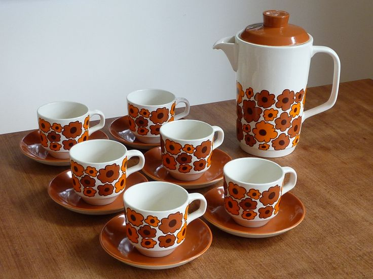 Crown Lynn 'Carnaby' coffee set
