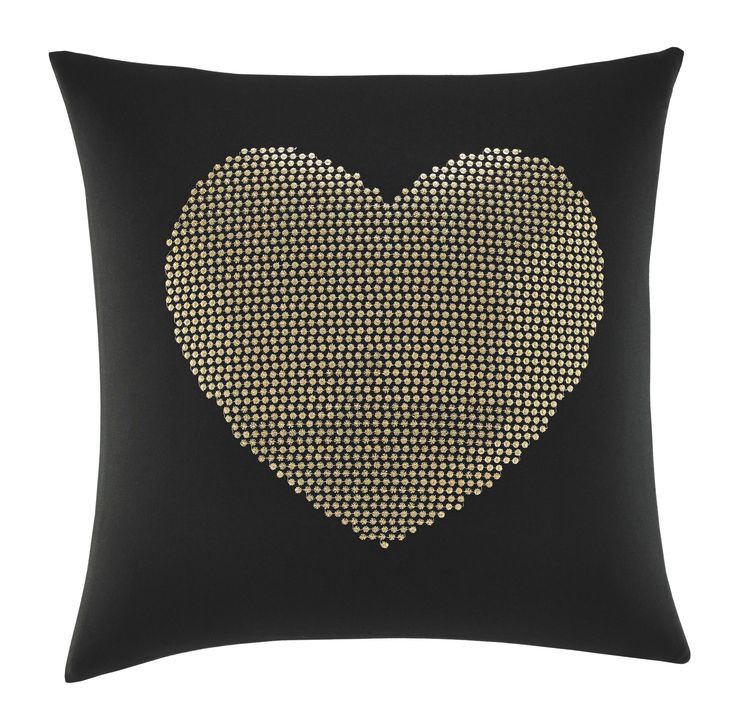 Wild Thing Heart Sequin Cotton Throw Pillow