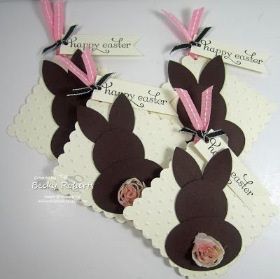 209 best easter stampin up cards images on pinterest easter card inking idaho bunny butt tags party ideasgift ideaseaster treatsgift card negle Images