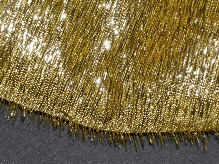 "BTY x40""W SHAG GOLD METALLIC FABRIC SPECIALTY lame FABRIC Shag gold lame fabric"