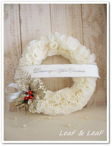 紙で作るクリスマスリース Christmas Wreath with paper christmas craft idea