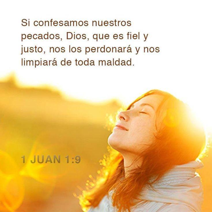 Si confesamos nuestros pecados, Dios, que es fiel y justo... - † Imágenes con Frases de Bendiciones y Cristianas †