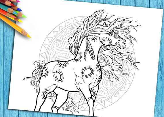 Adult Coloring Book Page Horse For Download And By SelahWorksArt