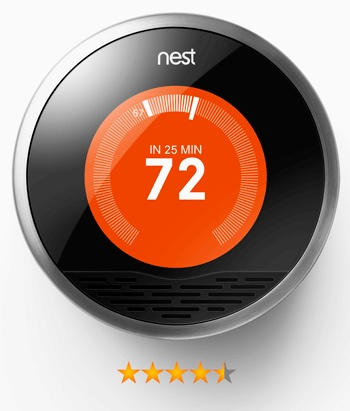 The Nest Learning Thermostat. You can control it via your iPhone and it also learns your temperature habits.    #home #design #lynnfriedman #intelligentdesign #nest