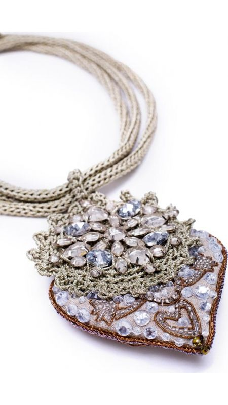 Accessories : Necklace Silver Happy Heart TMcollection Fall-Winter 2014 Alma Mater - Handmade