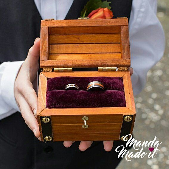 Treasure chest ring box for wedding