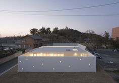 Who: Tsuyoshi Michigami  What: Single family residence  Where: Ehime Prefecture, Shikoku Island  When: March 2009  How: One-story steel frame and reinforced concrete construction  Site Area: 4,341 square feet  Construction Area: 1,512 square feet  Total Floor Area: 1,421 square feet