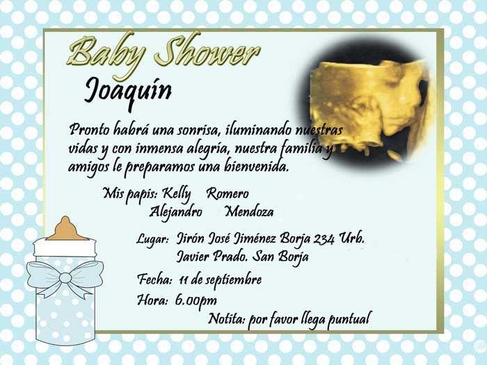 Invitaciones Con Frases Bonitas Para Baby Shower Frases